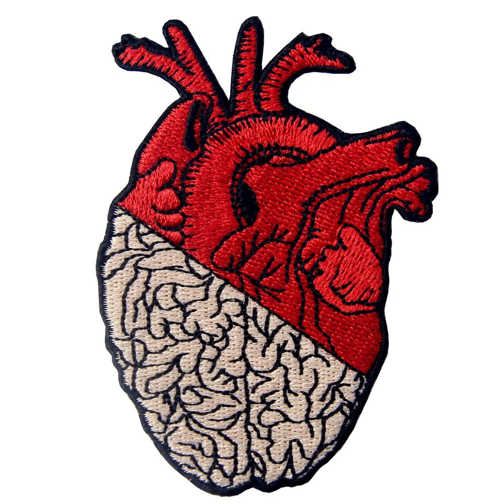 X-Ray Anatomical Heart Embroidered Badge Iron On Sew On Patch ZEGIN 4337020631