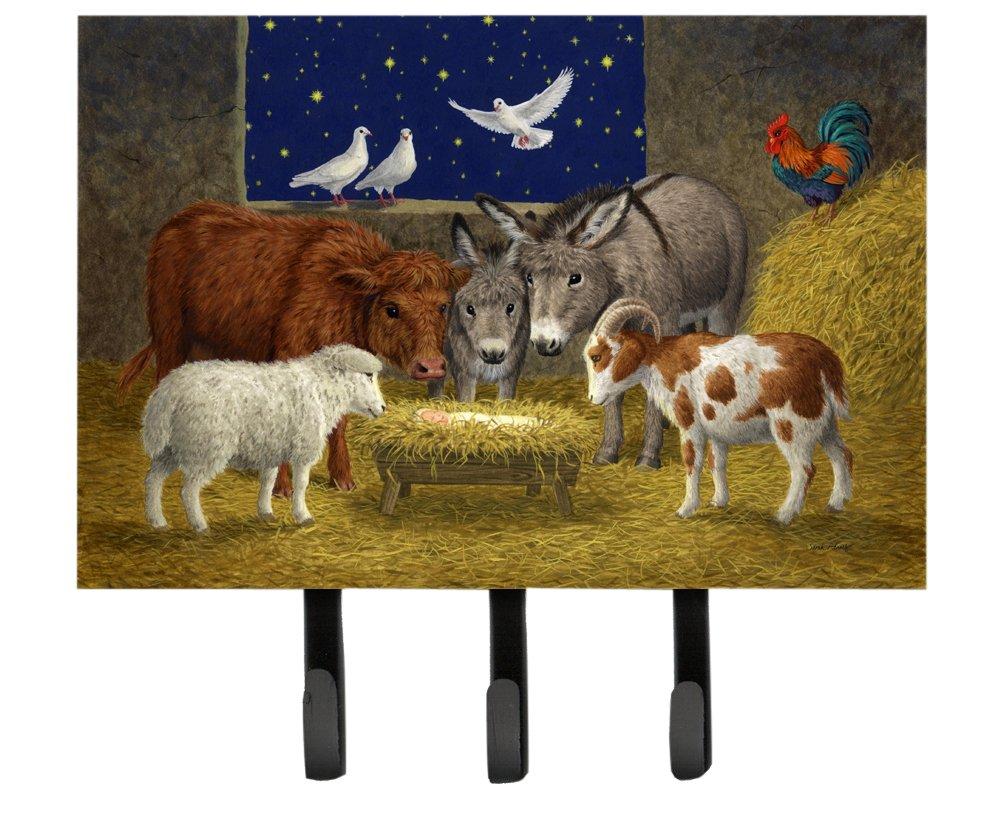 Carolines Treasures ASA2205TH68 Animals at Crib Nativity Christmas Scene Leash or Key Holder Large Multicolor