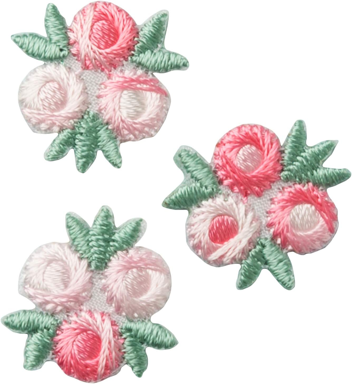 "IRON ON PATCH APPLIQUE DAISY 3//4/"" pink//white"
