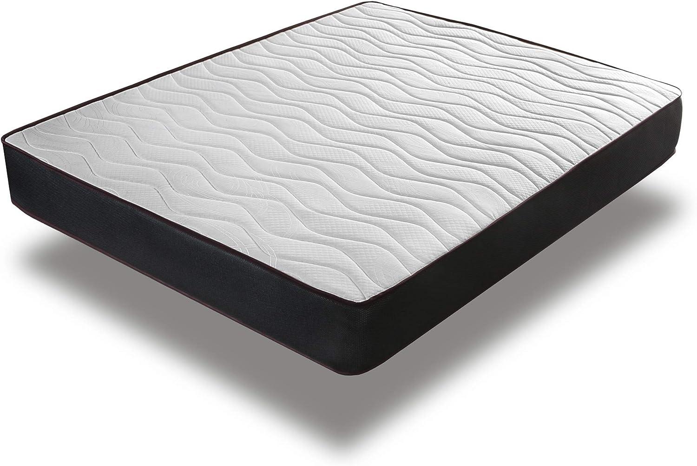 Home Heavenly® - Colchón viscoelastico Matt antiacaros, Reversible y Transpirable 15 H +/-2, 90_x_190