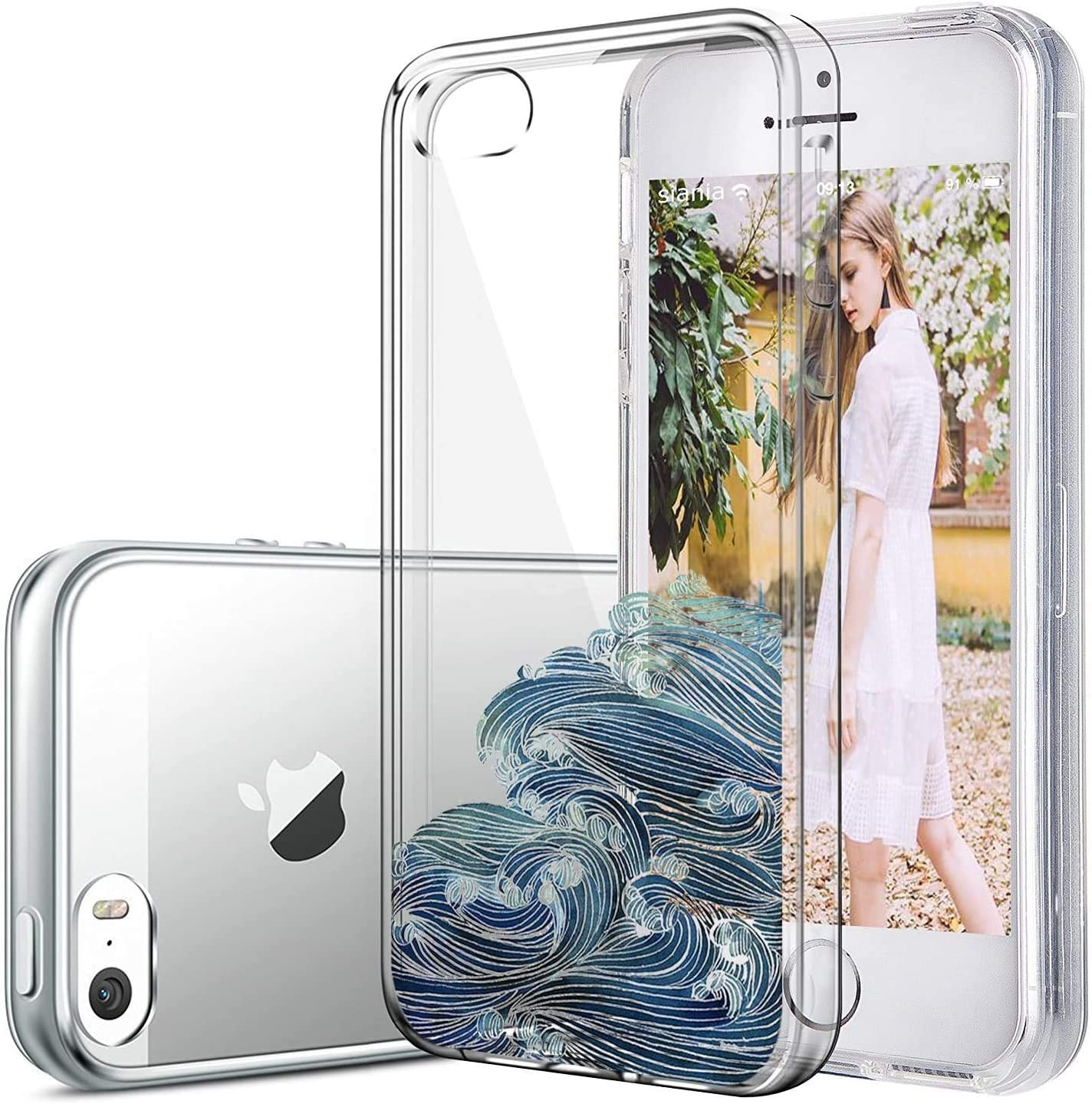 iPhone 5/5s/SE Case TPU Silicone Rubber Cute Anti-Scratch Slim Ultra Protective Clear Shock-Absorption Bumper Soft Amusing Design for Apple i Phone5 Cover (Color6, iPhone 5/5s/SE)