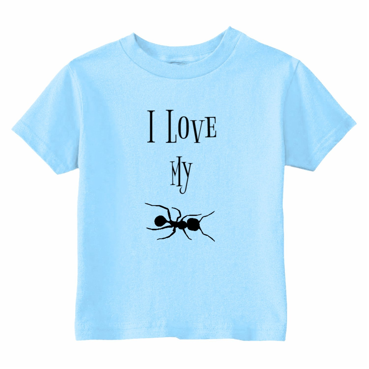 Custom Kids I Love My Ant Toddler T-Shirt U.S