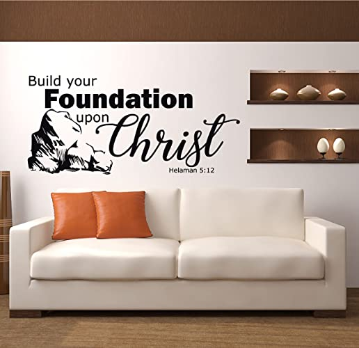 Amazon.com: Scripture Wall Decal - Helaman 5:12 - Build Your ...