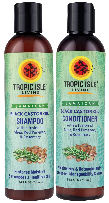 Tropic Isle Living Jamaican Black Castor Oil Shampoo + Conditioner Combo Set