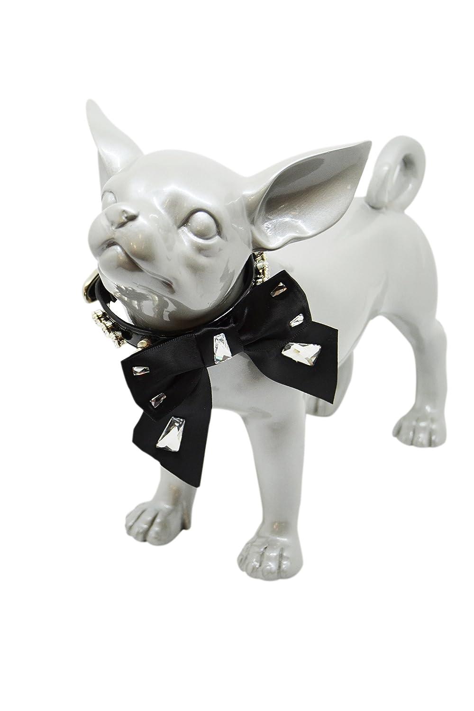 35 cm x 1.2 cm Trilly tutti Brilli Mae Dog's collar, Black, 35 cm x 1.2 cm
