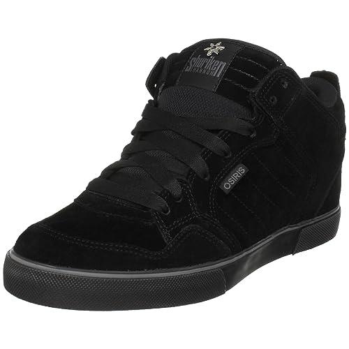Osiris Shuriken Mid - Zapatillas de deporte de ante para hombre, color negro, talla 47 EU / 12 UK: Amazon.es: Zapatos y complementos