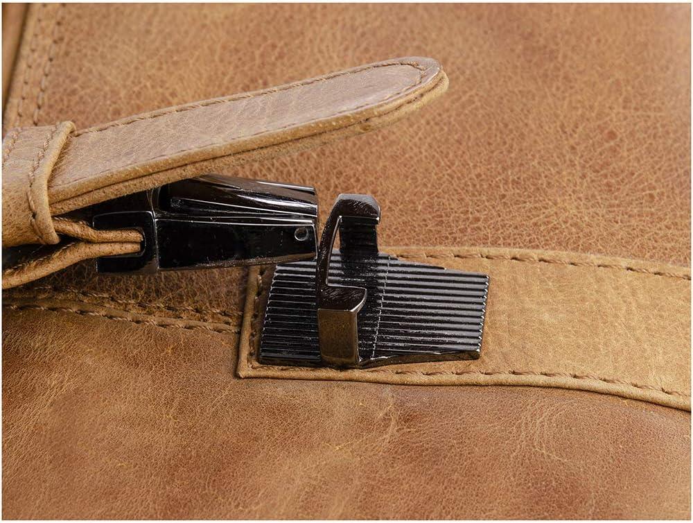 Bolso de asas de cuero para mujer marr/ón Brown BROWN 51 Greenland
