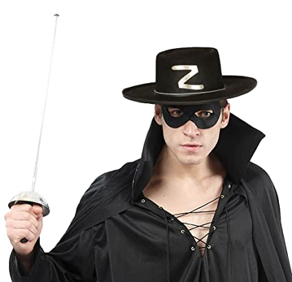 EL CARNAVAL Cappello Zorro Adulto feltro  Amazon.it  Casa e cucina b33a177aaa45