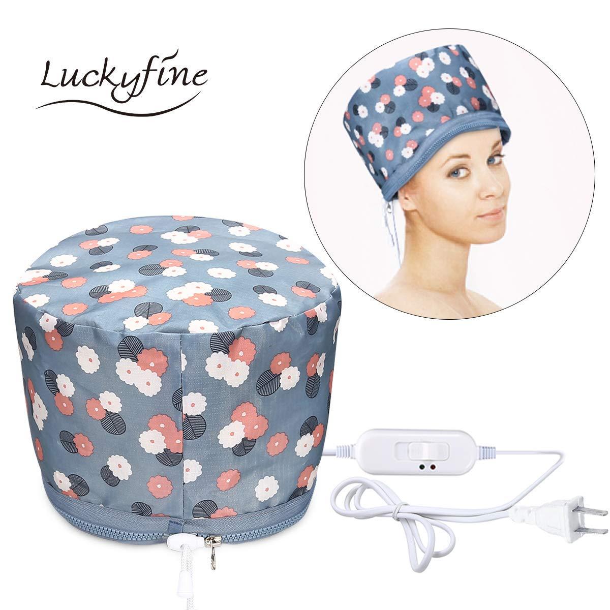 LUCKYFINE 110v Hair Thermal Steamer Treatment SPA Cap Nourishing Care Hat New Beauty Steamer Nourishing Hat 23 x 17cm