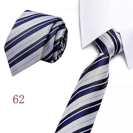 ZHENZHIA - Corbata de Seda para Hombre, 8 cm de Ancho, cómoda ...