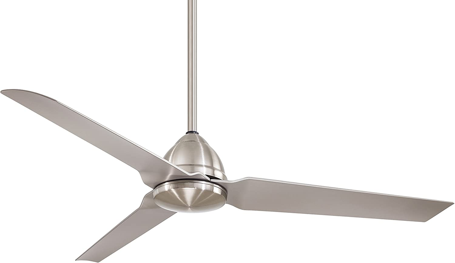 """Minka-Aire F753-BNW, Java Brushed Nickel Wet 54"""" Outdoor Ceiling Fan with Remote Control"""
