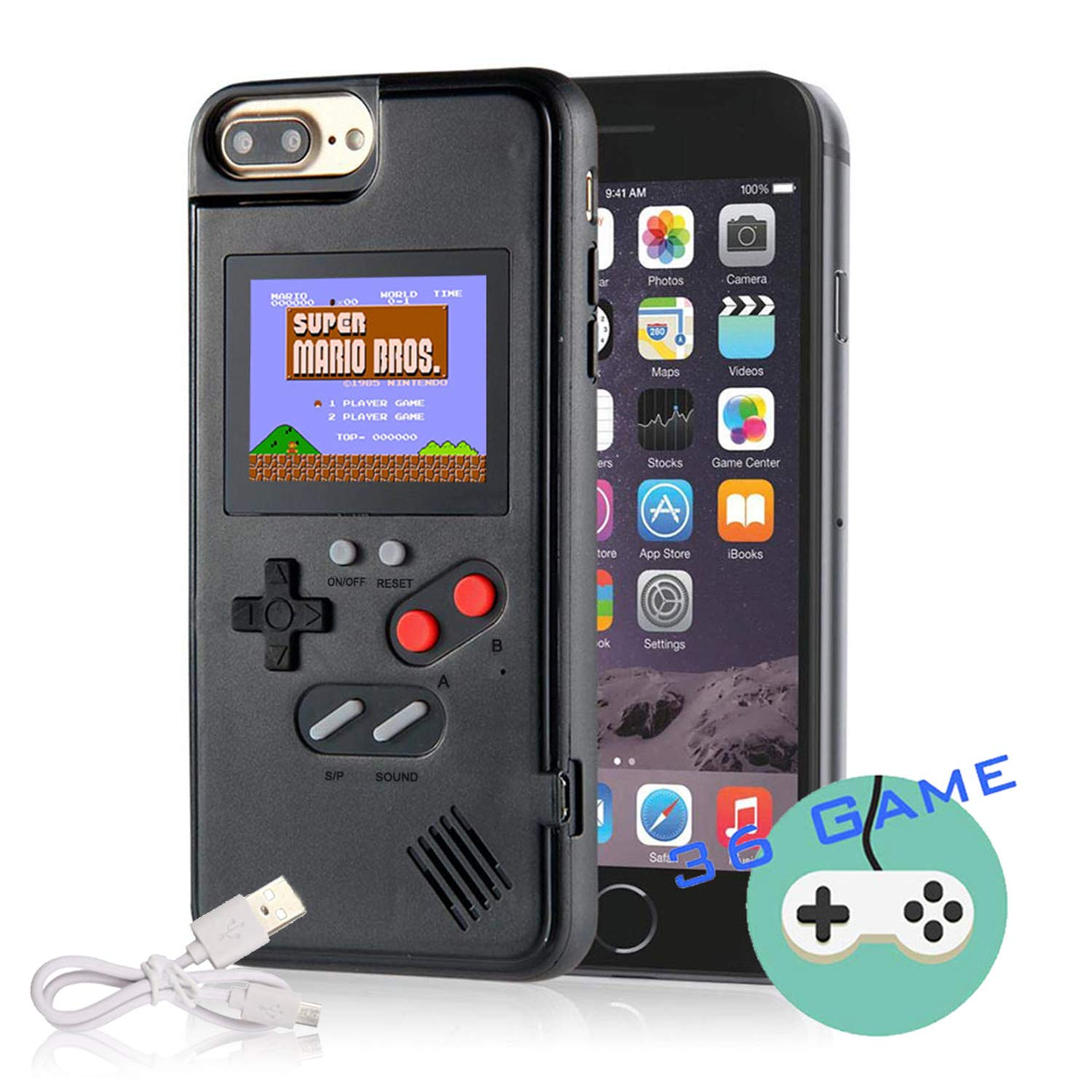 Gameboy Case For Iphone Autbye Retro 3d Phone Case Game Console With 36 Classic Game Color Display Shockproof Video Game Phone Case For Iphone 11