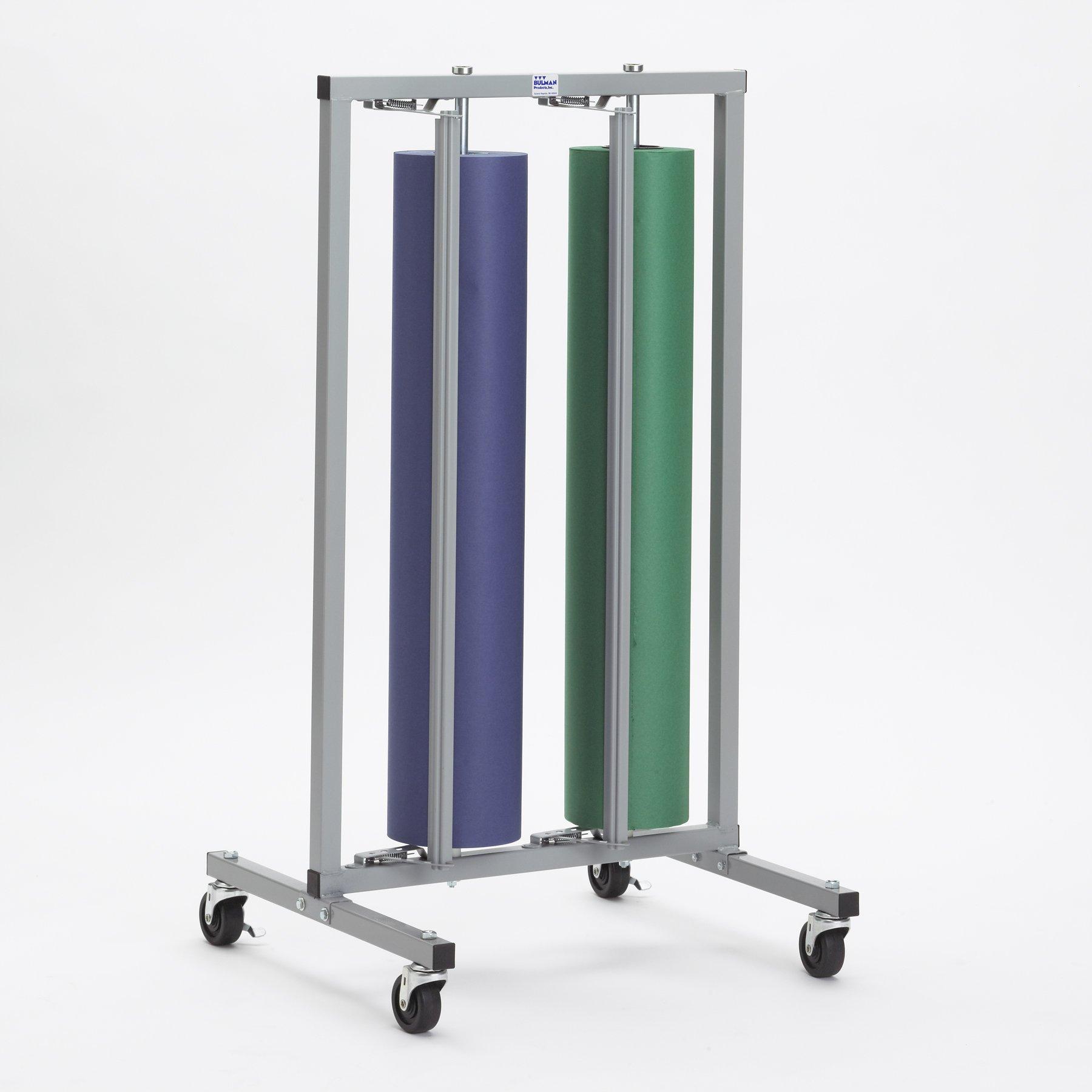 Double Paper Roll Vertical Paper Rack Dispenser 36'' for 30'', 36'' - Bulman-R997-36-No Casters