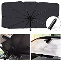 Car Windshield Sun Shade UV Rays Umbrella Style Portable Foldable Sunshade Heat Sun Visor Protector Outdoor Storage…