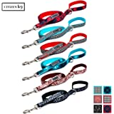 Buju Citizen K9 Dog Leash – 5' Foot Patterns - Designer Pet leashes for Large Medium and Small Dogs & Cats – Reflective Logo – Pet Supplies Dogs Training Leashes