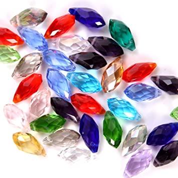 wholesale 50---100pcs  8x12mm  AB Teardrop Shape Loose Crystal Beads