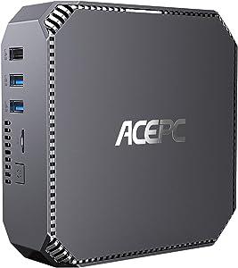 ACEPC Mini PC,Intel Celeron J3455,Windows 10 Pro Mini Computer,8GB RAM/120GB mSATA SSD,4K HD Graphics,Gigabit Ethernet,Dual Band Wi-Fi,Bluetooth 4.2