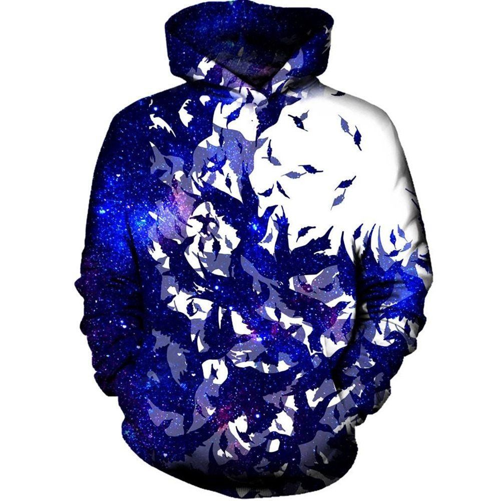 CAaociKK Birds Space Galaxy Hoodies Men New Autumn Winter Unisex 3D Printed Hoodie Sweatshirt Casual Pullover Hoodie Hooded Dropship at Amazon Mens ...