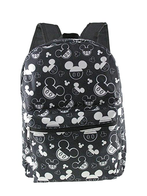 """Disney Mickey Mouse Allover Print 16/"""" Boys Large School Backpack"""