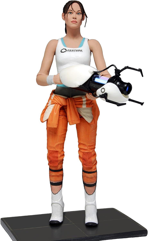 Neca 45325 Portal Chell Action Figure White Orange
