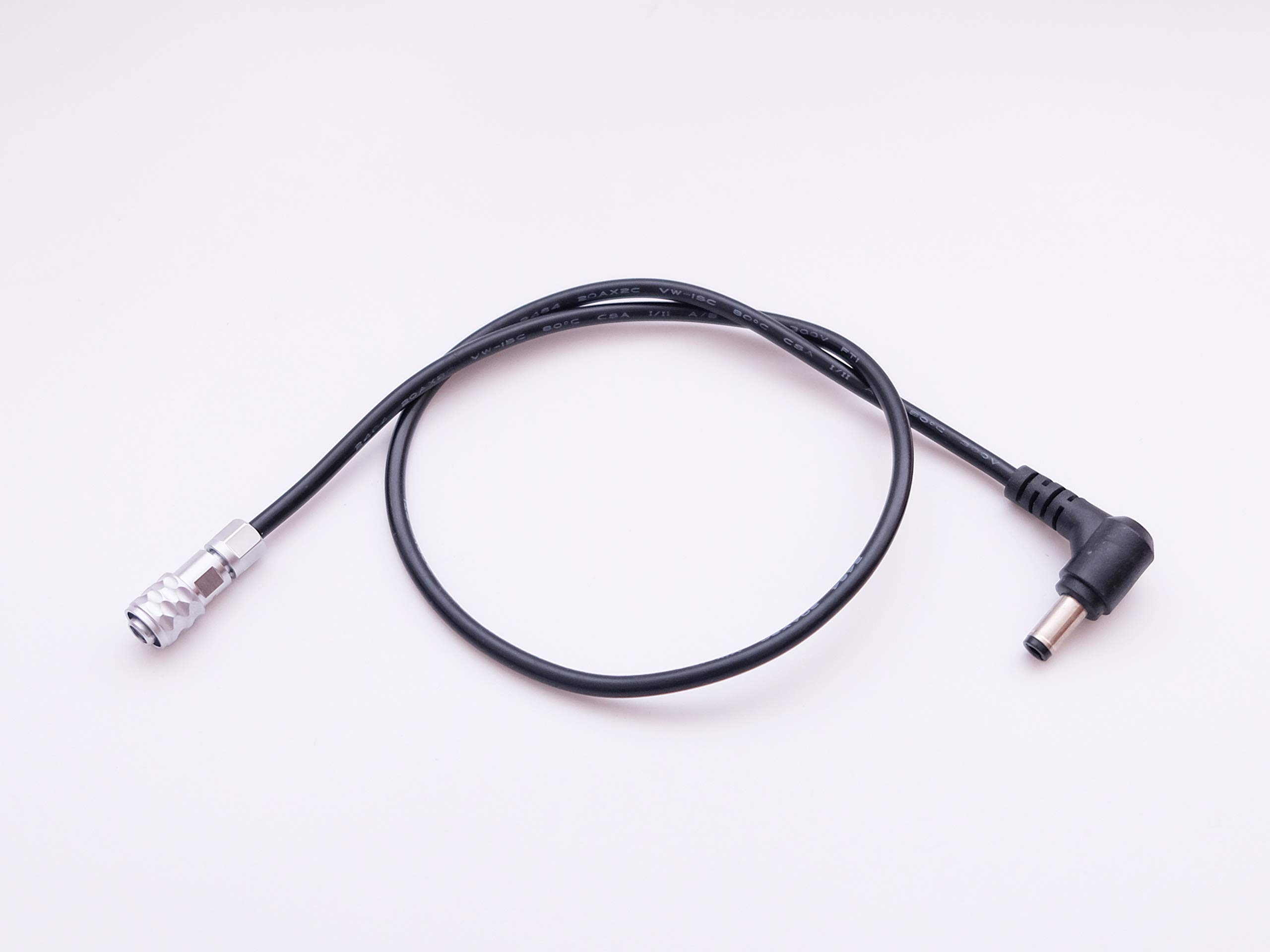 DC 5.5/2.mm Right Angled Power Cable for BMPCC 4K Blackmagic Pocket Cinema Camera