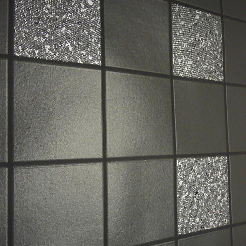 Holden Decor Tiling On A Roll Kitchen Bathroom Heavy Weight Vinyl Wallpaper Granite Black 89130 Amazon Co Uk Diy Tools
