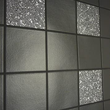 Holden Decor Tiling On A Roll Kitchen U0026 Bathroom Heavy Weight Vinyl  Wallpaper Granite Black 89130