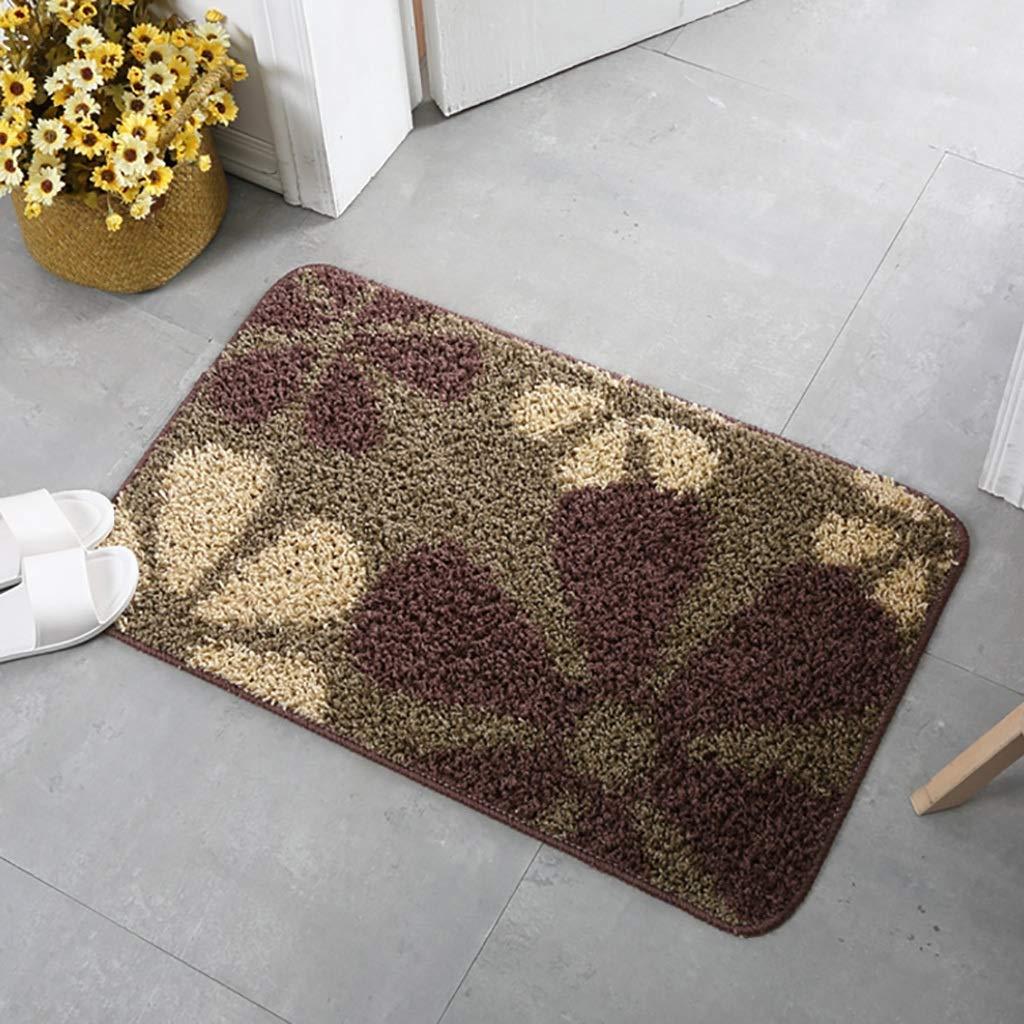 Bath mats antiscivolo Absorbent Floor Mat Carpet Rug for Bathroom Entry mat Floor Bedroom Kitchen Bathroom Bathroom Absorbent Floor mat (Color : D-4060CM)