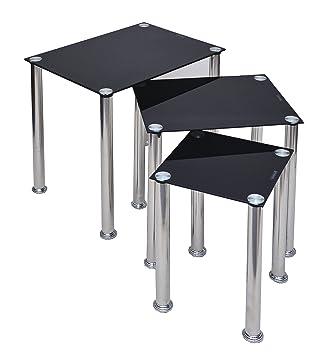 Amazonde Ts Ideen 3er Set Glastisch Beistelltisch Ecktisch