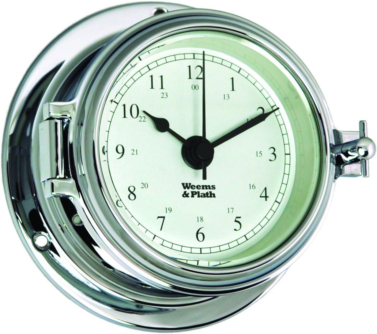 Weems And Plath Endurance Ii 105 Quartz Clock Chrome Amazon Co Uk Sports Outdoors