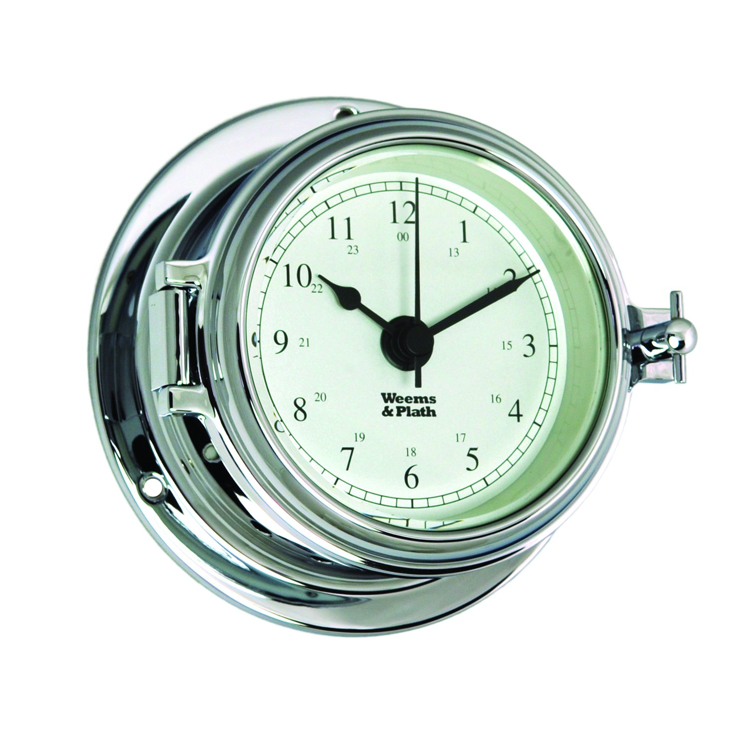 Weems and Plath Endurance II 105 Quartz Clock, Chrome