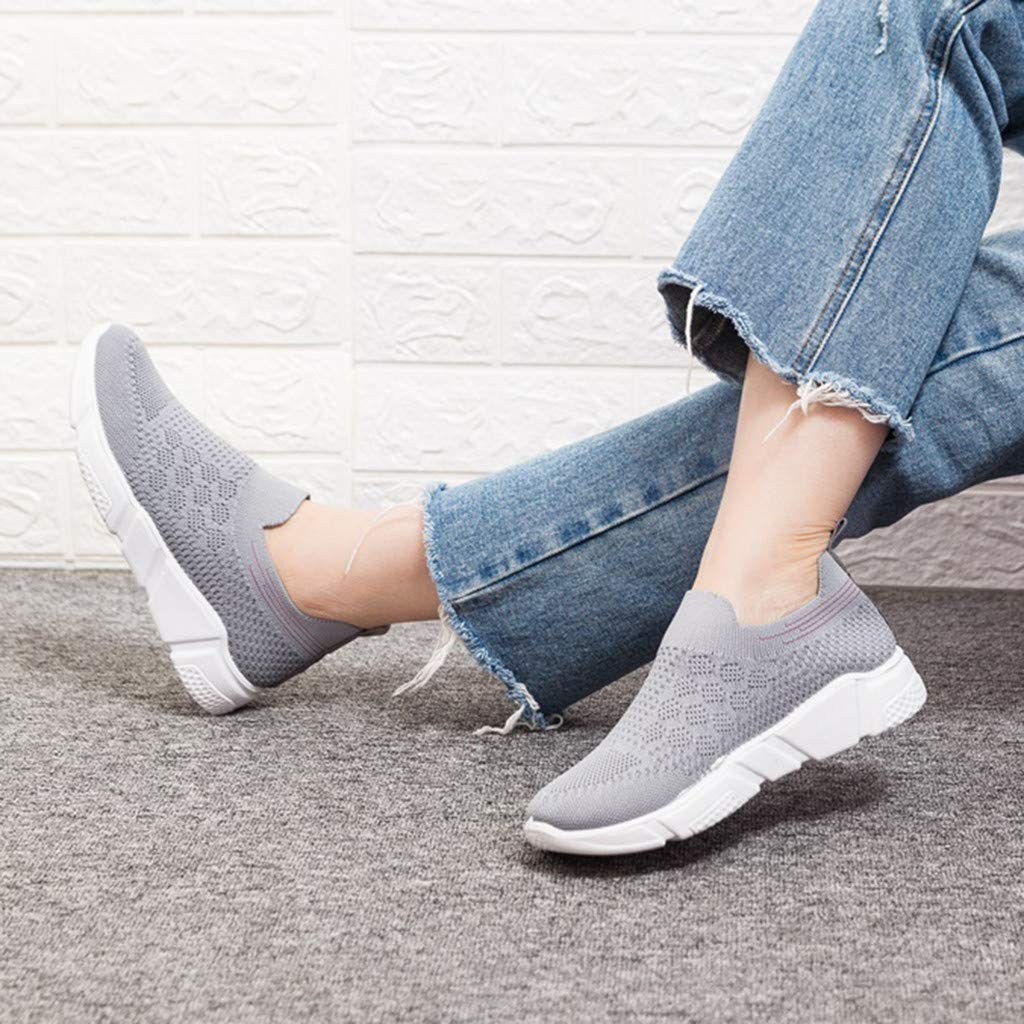 Moonker Womens Slip On Arch Support Sneaker Wide Width Walking Shoes Ladies Girls Athletic Running Casual Shoes