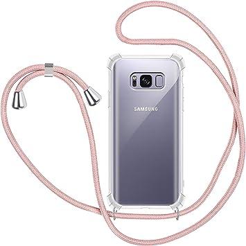 Funda con Cuerda para Samsung Galaxy S8, Carcasa Transparente TPU Suave Silicona Case con Correa Colgante Ajustable Collar Correa de Cuello Cadena Cordón para Samsung Galaxy S8: Amazon.es: Electrónica