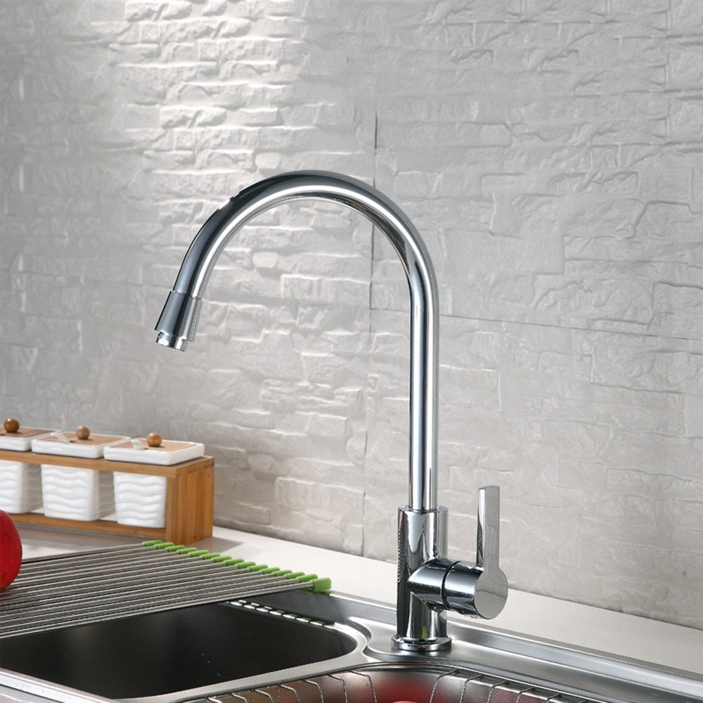 DRM Kitchen Faucet Hot and Cold Copper Wash Basin Sink Copper Warm and Cold Can Be redated Splash Tap Household Monobloc Bathroom Sink Faucet Chrome Modern Faucet