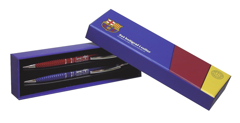FCB Fc Barcellona - Set Penna A Sfera E Di Rulli CYP Imports SET-26-BC