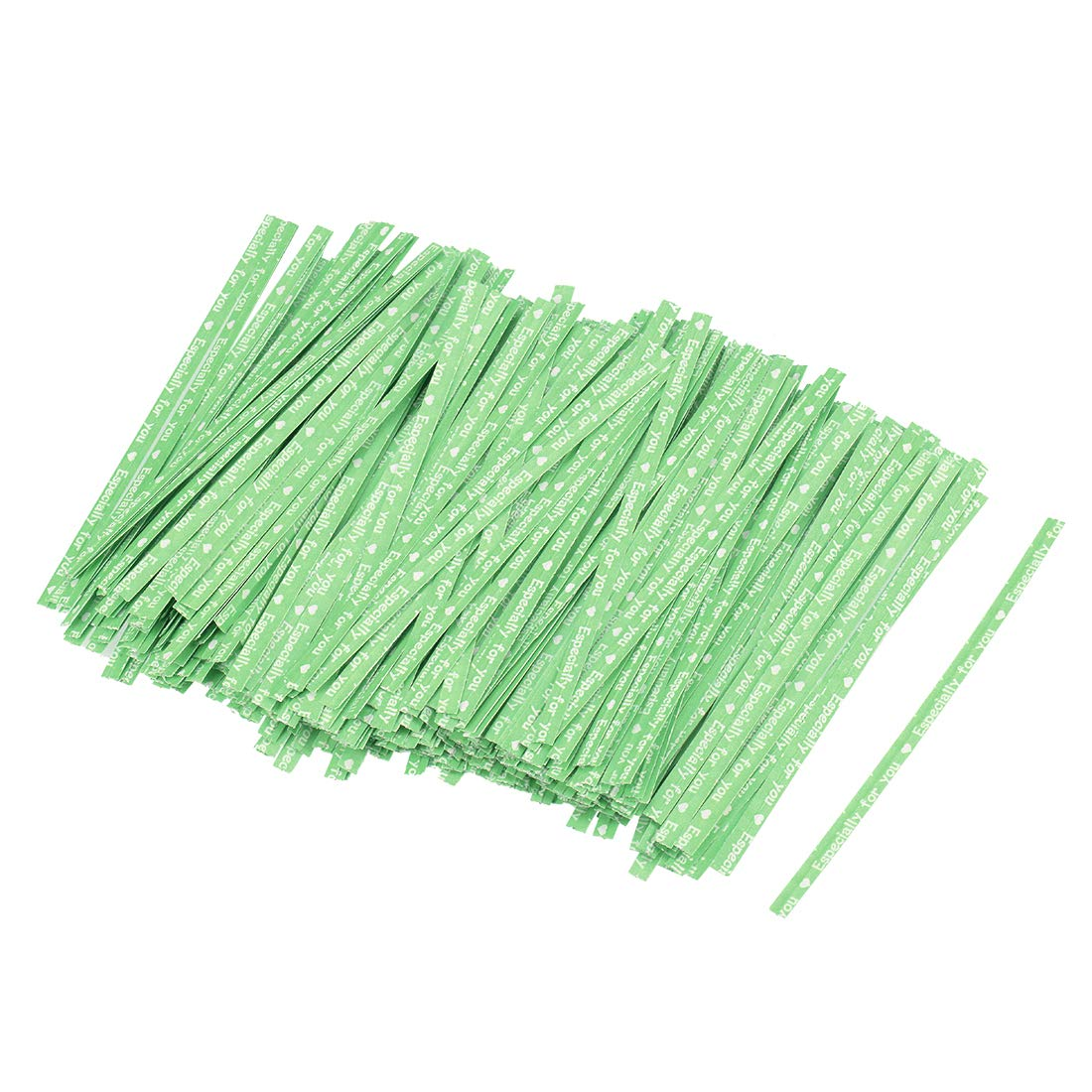 Uxcell - Corbata de papel resistente de 10 cm para atar bolsas de ...