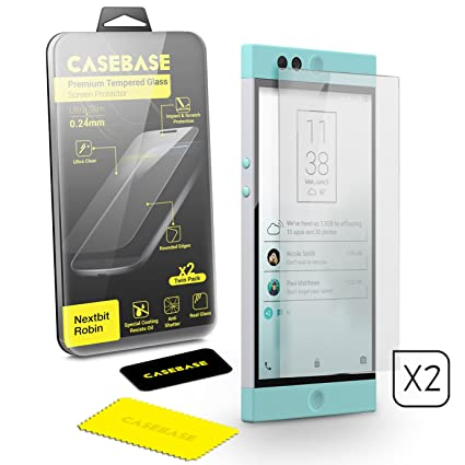 casebase nextbit robin premium tempered glass screen protector twin pack for nextbit robin amazoncom tempered glass