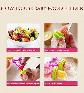 Amazon.com: Feihe bebé alimentador de alimentos reutilizable ...