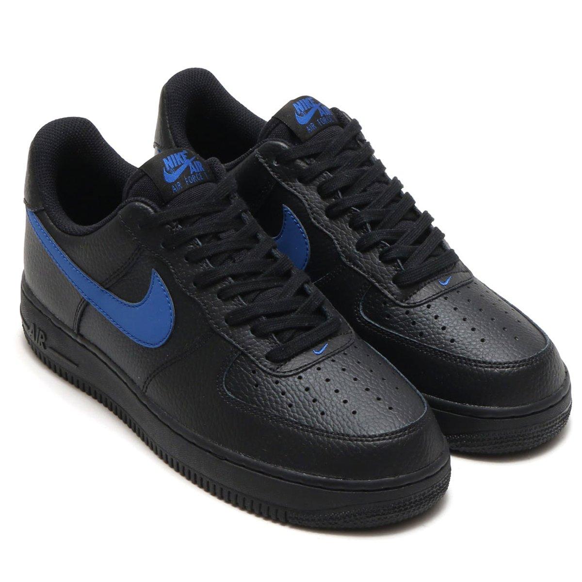 日本国内正規品 Nike ナイキ エア フォース1 LOW 07 [AIR FORCE1 LOW 07] ブラック/ジムブルー AA4083-003 B079DQQHDP 27.5cm