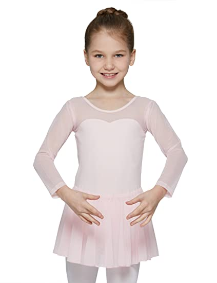 97886a53c1e8 Amazon.com  MdnMd Dancewear Leotard for Girls with Long Sleeve ...