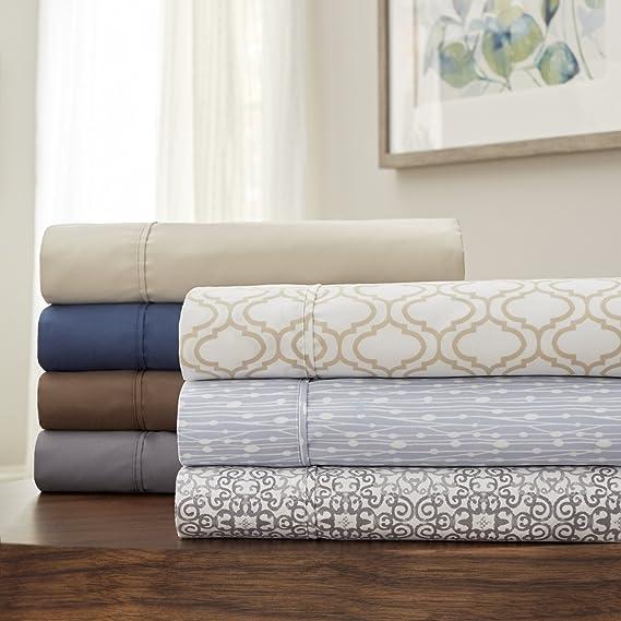 6 Pc Set Grey Serta Confy Sleep Queen Sheet Set