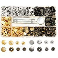 SUNTATOP 140 Set Metalen Snap Fasteners, 12.5mm 4 Kleuren Metalen Snap Knoppen Drukknopen met 4 Fixing Tools voor…