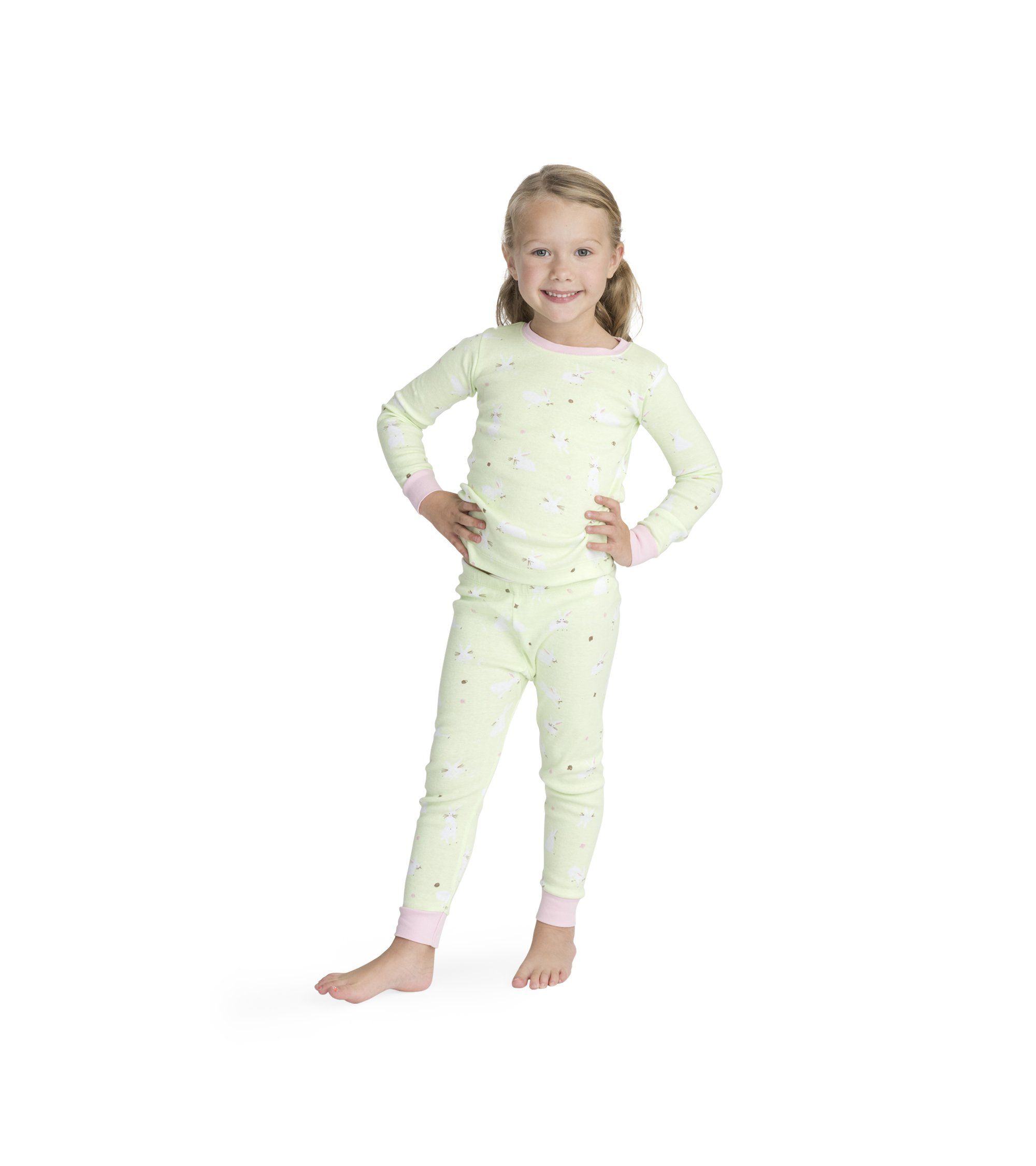 11d3be0e34660b Galleon - Hatley Girls' Little Organic Cotton Long Sleeve Printed Pajama  Sets, Thumping Bunnies, 4 Years