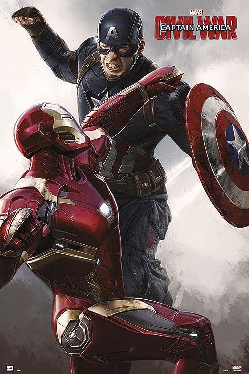 Captain America Civil War Poster Iron Man Marvel 2016 FREE P+P CHOOSE YOUR SIZE