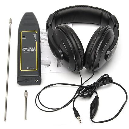 KUNSE Estetoscopio electrónico Auricular Detector de Fugas de Agua Tubo de detección Equipo Kit