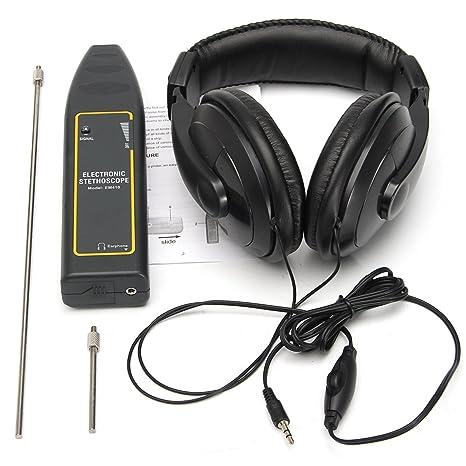 DyNamic Estetoscopio Electrónico Auricular Detector De Fugas De Agua Tubo De Detección Equipo Kit