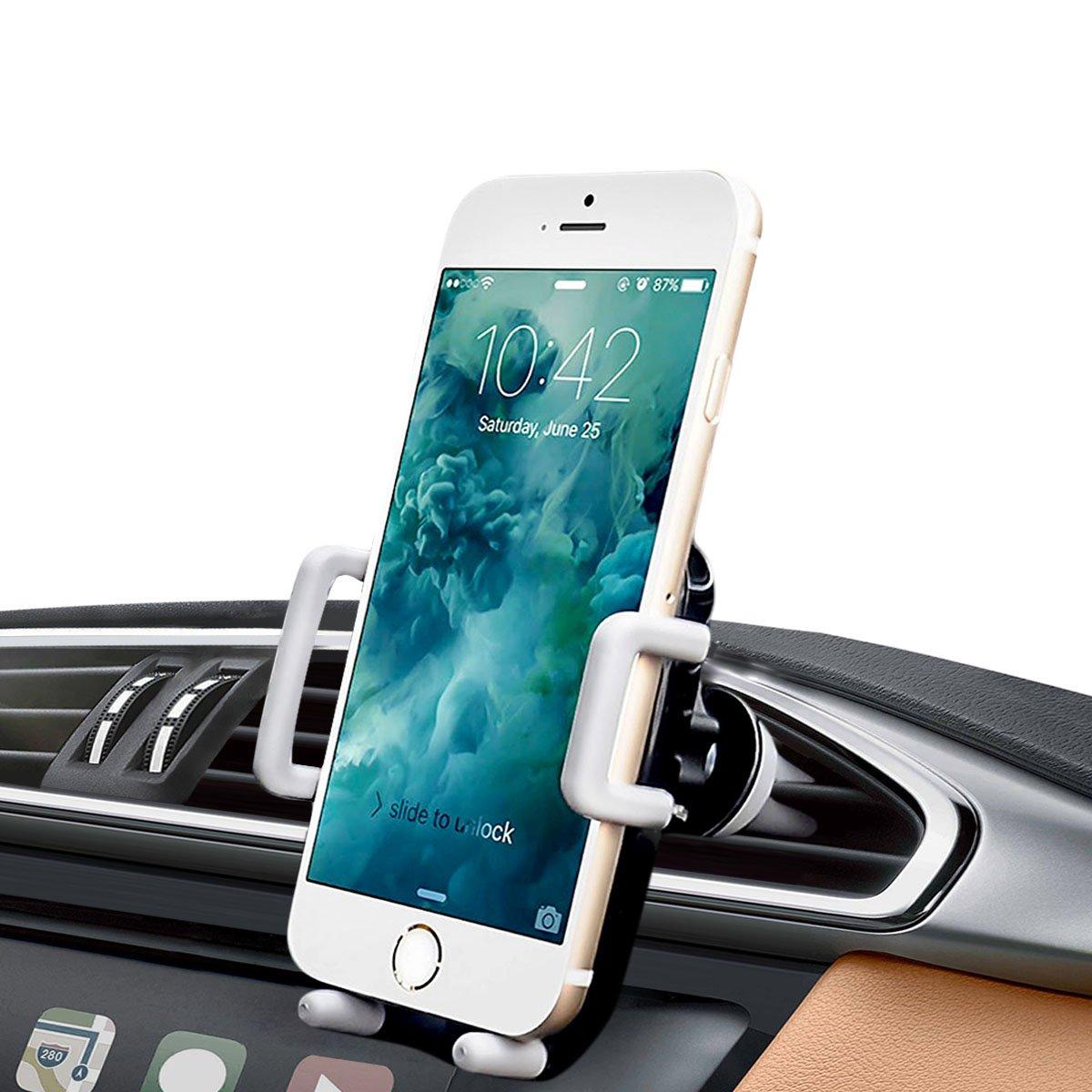 iAmotus Soporte Mó vil Coche Ventilació n Universal 360 Grados Soporte Telé fono Coche para Rejilla de Aire con iPhone X 8 7 6s 6 Plus 5s, Samsung Galaxy S9 S8 Edge, Huawei, Smartphone y GPS Dispositivo LinkHolder