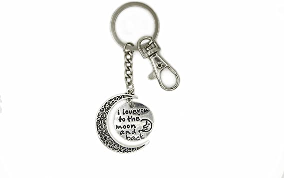 Hand Sign Crescent Moon I Love You To The Moon And Back Sign Language Symbol Gift Keychain