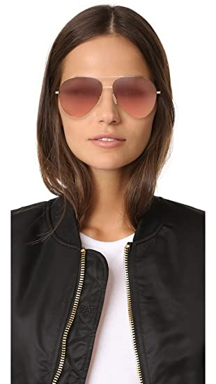 9380b419f Amazon.com: Victoria Beckham Women's Classic Victoria Feather Aviator  Sunglasses, Gold/Dove Pink, One Size: Clothing
