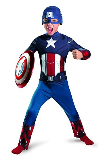 Amazon.com  Disguise Inc Boys  Captain America Avengers Classic Costume   Clothing 464f8dcffde9